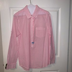 J Crew pullover button down shirt